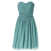 8e10a40be4 Tevolio Teal Strapless Chiffon Gown
