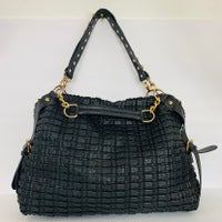Lionel Black Quilted Large Tote Purse