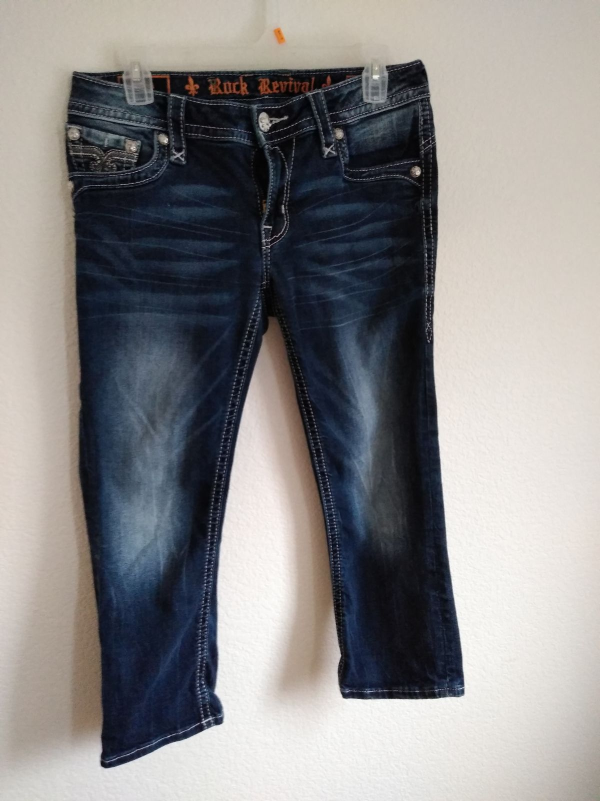 "Rock Revival Denim Jeans Women's 29"" EUC"